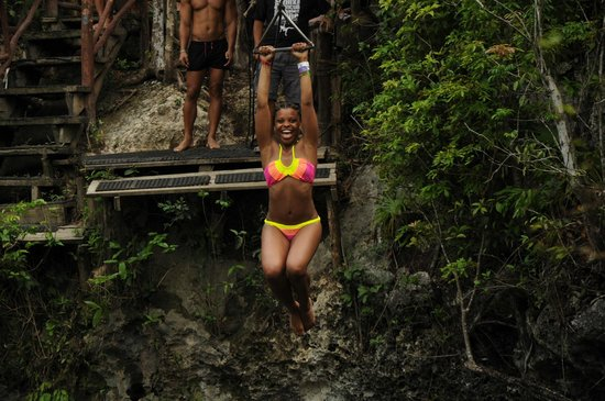Selvatica: zip lining into a lake