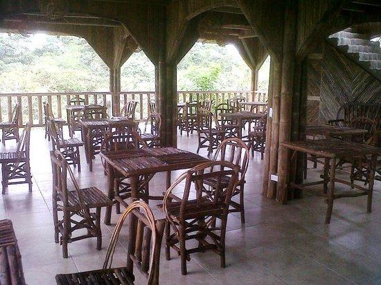 San Jorge de Milpe Eco-Lodge Orchid & Bird Reserve: New spacious open air restaurant & bar overlooking Tropical Rainforest