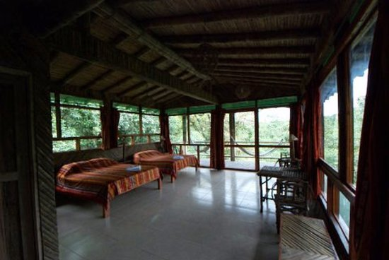 San Jorge de Milpe Eco-Lodge Orchid & Bird Reserve: Deluxe rustic spacious Suite with Balcony & Views - NEW lodge