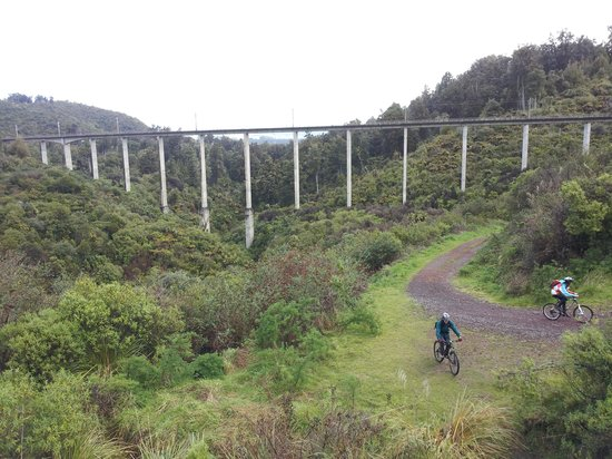 Mountain Bike Station : Historic Hapuawhenua Viaduct, Old Coach Road
