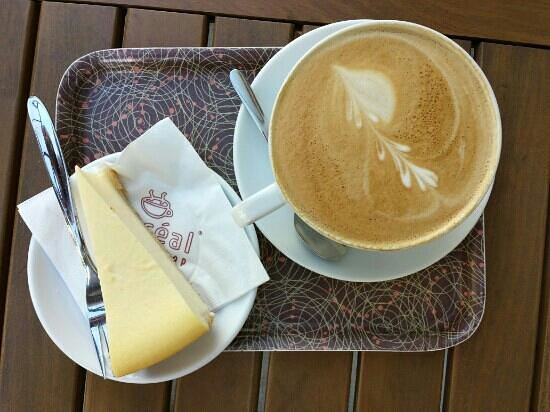 Boreal Coffee Shop: cheesecake and cappuccino coffee