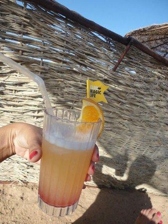 TUI Magic Life Sharm el Sheikh: Magic cocktail from beach bar