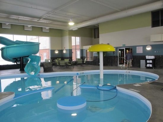Indoor pool with waterslide  Indoor Pool with Waterslide - Picture of Best Western Plus ...