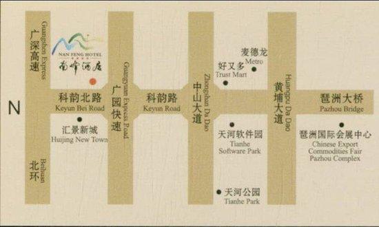 Nan Feng Business Hotel: Map