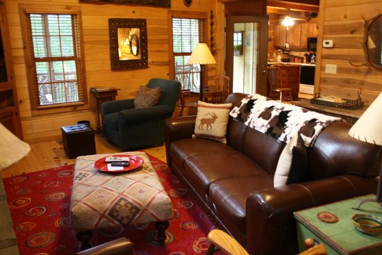 Cabins at Seven Foxes: Living Room of Deer Lodge