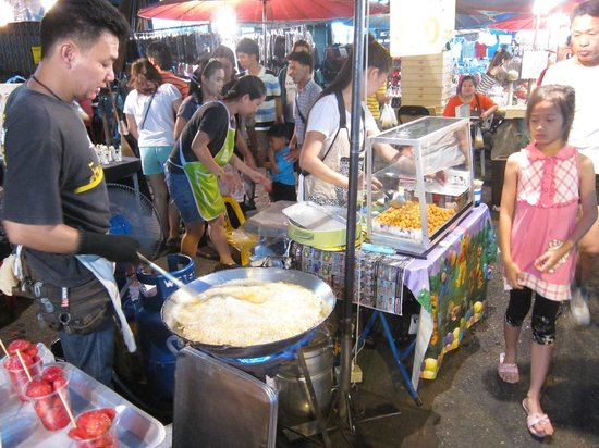 SpiceRoads Cycle Tours - Chiang Mai Day Tours: Night market goods