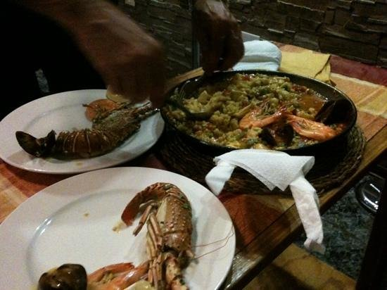 Restaurante Abordo: Paella with lobster
