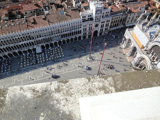 Piazza San Marco: Aerial view of St. Mark's square as seen from the Campanile
