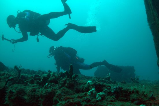 Scubatyme Dive Charters: Three of my four divers on the Sea Emperor