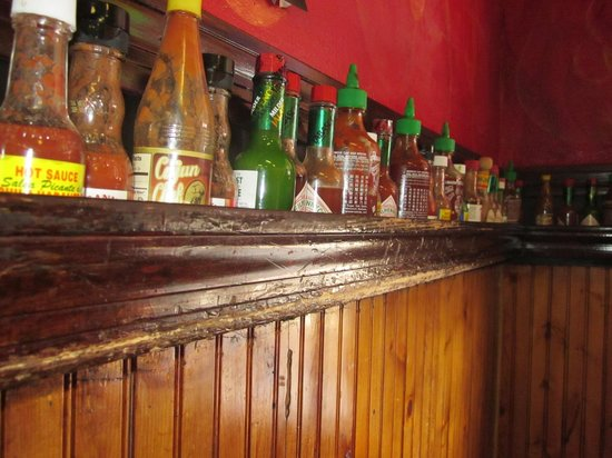 BrushFire BBQ: Wall of Hot Sauces
