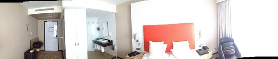 Van der Valk Hotel Schiphol: A panoramic view of the room (excuse the mess)