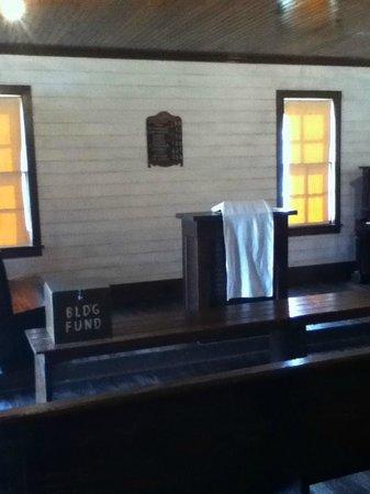 Elvis Presley Center: Pulpit of Old Church Building