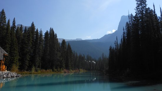 Emerald Lake: mountains over emerald