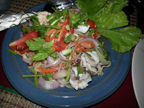 Cookies at Falang Paradise: Thai seafood salad.