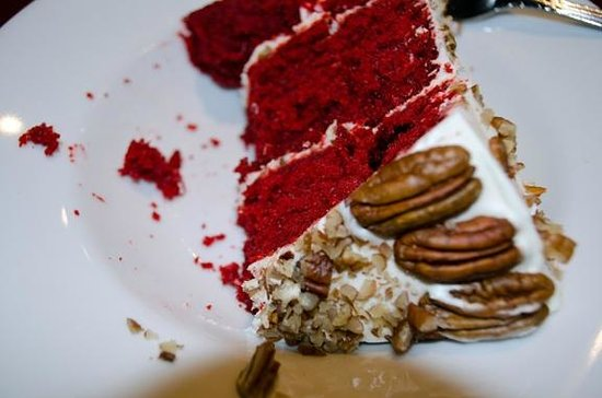 Sandra Dee's Barbeque & Seafood: Red Velvet Cake—yum