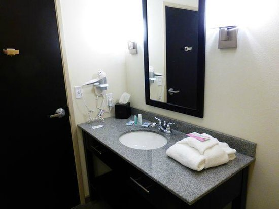 Sleep Inn & Suites Medical Center: Bathroom showing hair dryer & night light