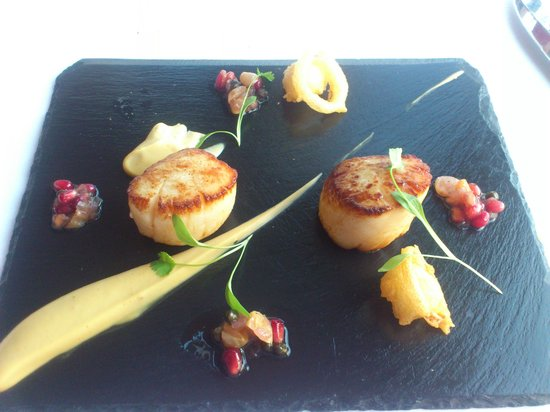 Judges Country House Hotel: my scallops