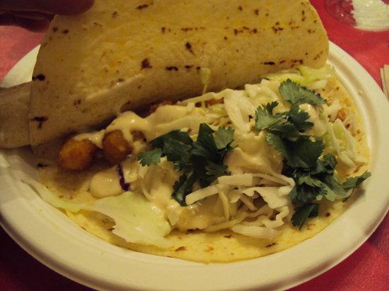 Bob's Chowder Bar & BBQ Salmon: fish tacos