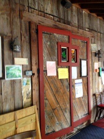 Parker's Maple Barn: Entrance door