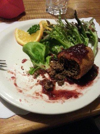 Alpine Restaurant & Wine Bar: Venison Croquette with a cranberry sauce