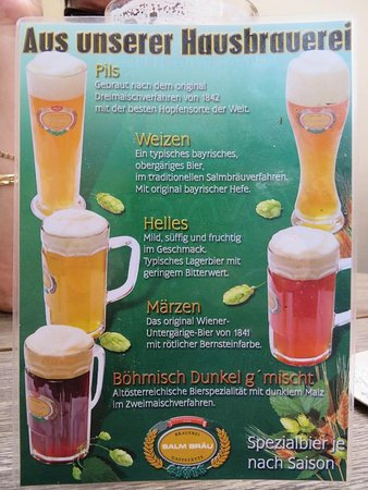 Salm Braeu: Lots of beer to choose from...
