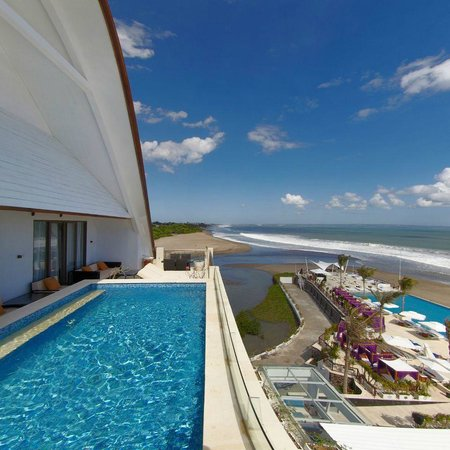 Vue Beach Club from Penthouse of Lv8 Resort Hotel Canggu Bali