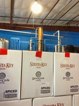 Siesta Key Rum: Cases of heaven, with Carl overlooking