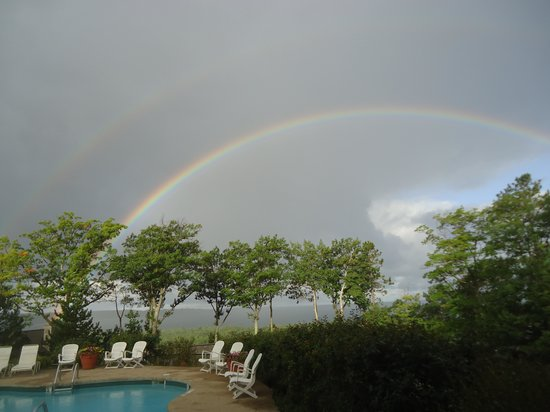 The Homestead: Yes, we even woke up to a rainbow!