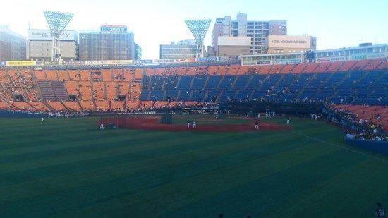 Yokohama Stadium: レフトスタンドから。観やすいです。