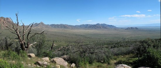 Aguirre Spring National Recreation Area: East view of Black Mountain