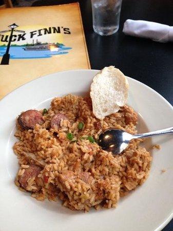 Huck Finn's Cafe: delicious jambalaya
