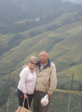 Yangshuo Private Tour-Day Tour: Carol and Tom at Longji Rice Terraces.