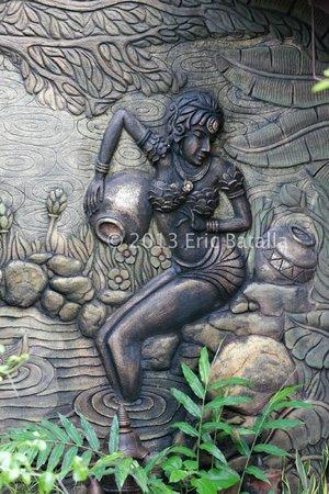 Cintai Corito's Garden: Wall sculpture