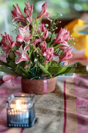 Cintai Corito's Garden: Fresh flowers on the dining table