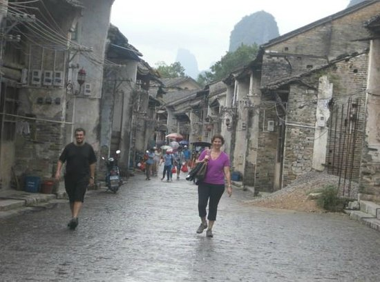 Yangshuo Private Tour-Day Tour: Danna and Micheal at Xingping.