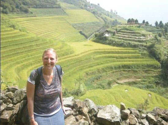 Yangshuo Private Tour-Day Tour: Tiffany at Longji Ping'an village.