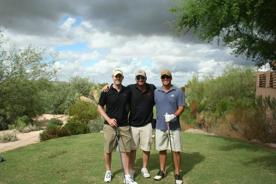 Meridian CondoResorts: My brothers and I before heading out at Troon North