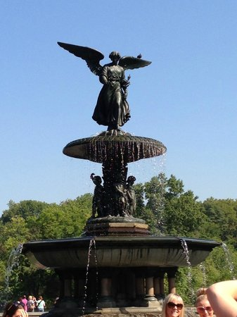 Real New York Tours: Angel of the Waters fountain in Central Park