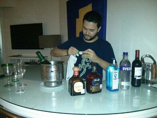 Beloved Playa Mujeres: our own bar and my bartender