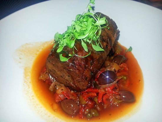 Terra Rossa Restaurant & Bar: had 12 hour slow cooked rolled lamb shoulder with confit shallots and pepperonata ($34)