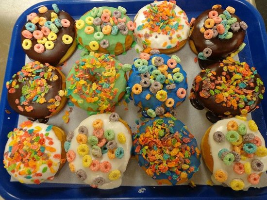 Leo's Donuts and Coffee House: Decorated Donuts