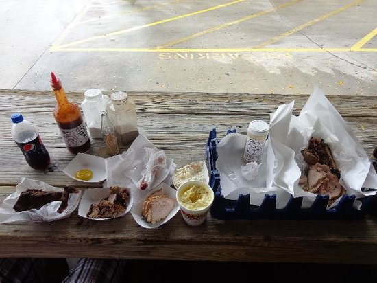 Rudy's Barbecue: Our spread