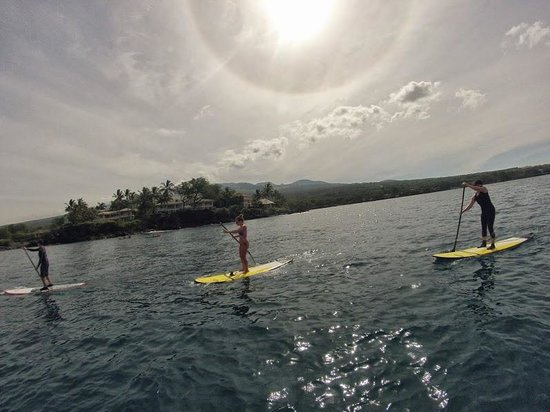Hawaiian Paddle Sports: The three of us paddleboarding!