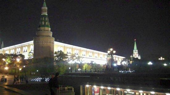 มอสโก, รัสเซีย: Kremlin at Night Moscow