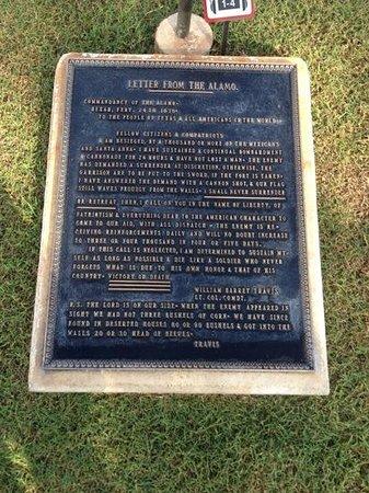 The Alamo: letter
