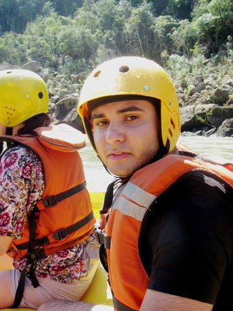 Rafting in the River Iguacu: Danilo