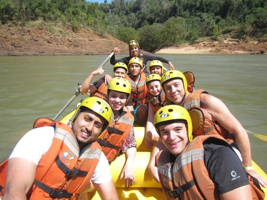 Rafting in the River Iguacu: The whole group