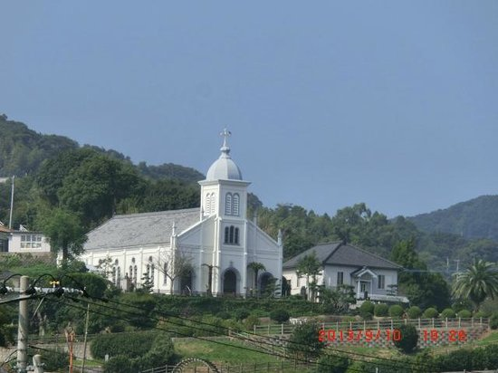 Oe Cathedral Church: 道から見えます