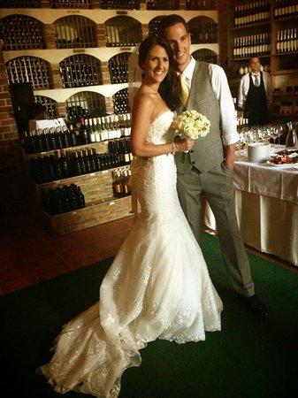 Hotel Boskinac: wedding reception in wine cellar
