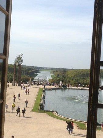 Paris City Vision: versailles. vista de los jardines desde los aposentos del rey